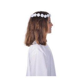 Couronne de fleurs pour communion ou profession de foi