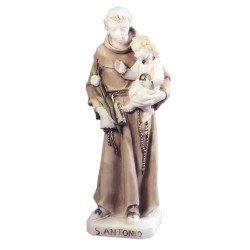 Statue de Saint Antoine en albâtre coloré - 20 cm