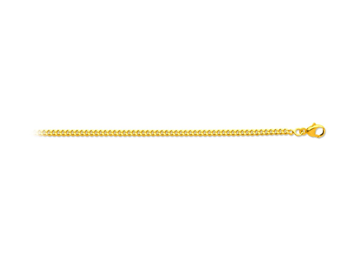 Chaîne maille gourmette en or jaune - 45 cm