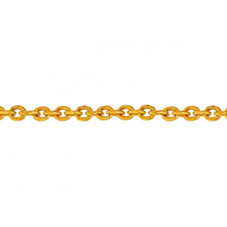 Chaîne maille forçat ronde en plaqué or 1,60 mm - 40 cm