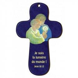 """Croix en bois - Maïté Roche """"Je suis la lumière du monde !"""""""