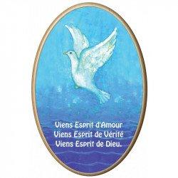 """Cadre en bois Maïté Roche """"Viens Esprit d'Amour"""""""