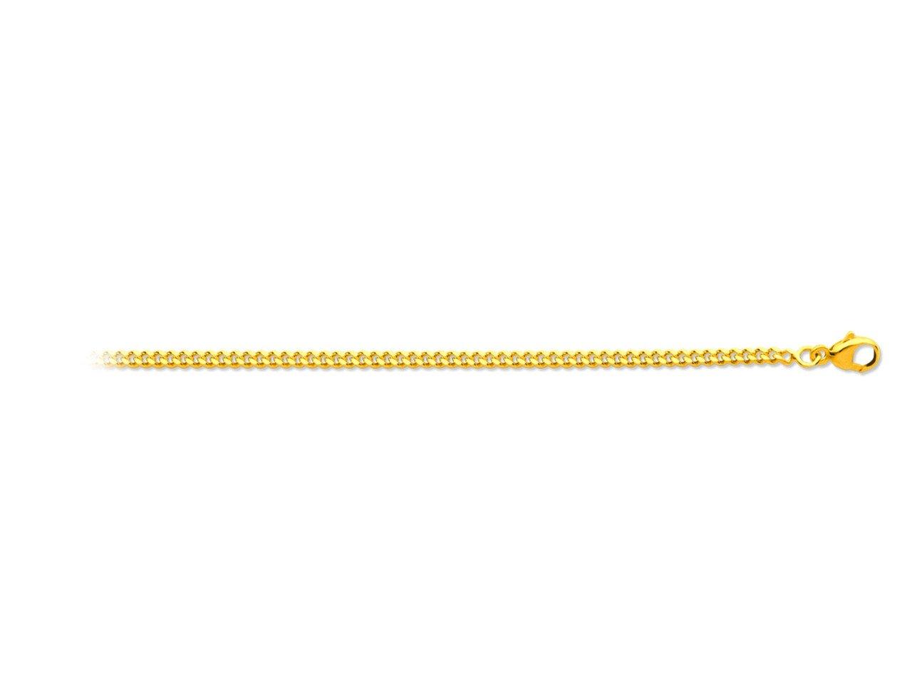 Chaîne maille gourmette en or jaune - 60 cm