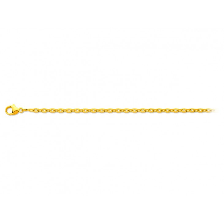 Chaîne maille forçat en or jaune - 45 cm