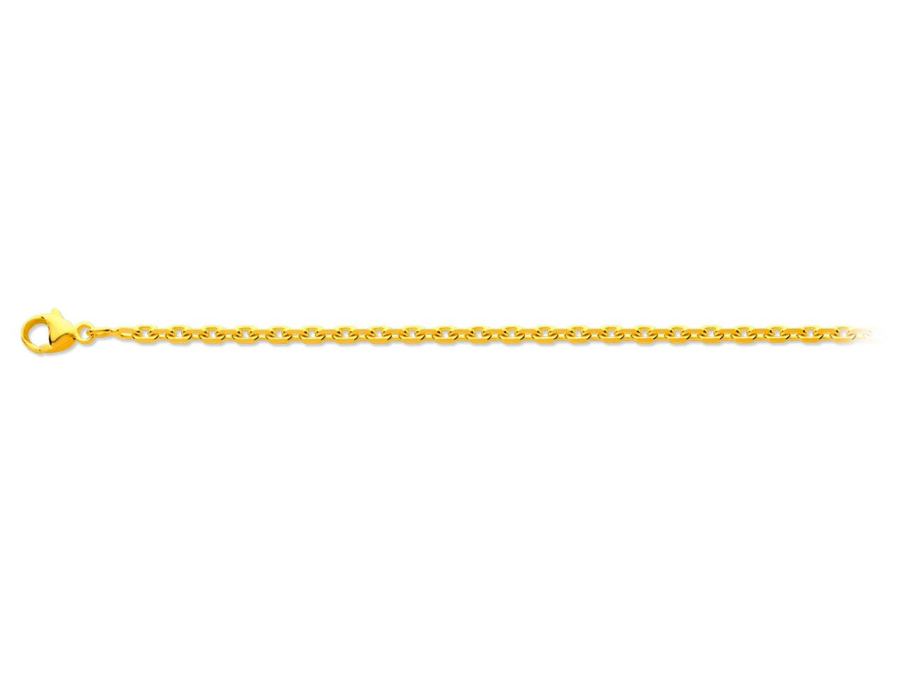 Chaîne maille forçat en or jaune - 60 cm