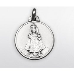 Médaille Enfant Jésus de Prague - argent