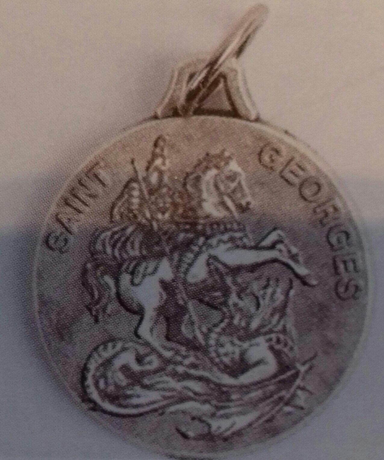 Médaille Saint Georges en métal - 18 mm