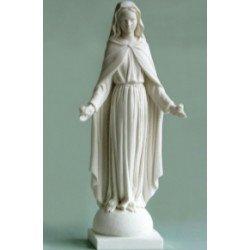 Statue Vierge de Tendresse en albâtre - 43 cm