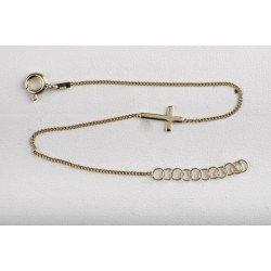 Bracelet Croix - plaqué or