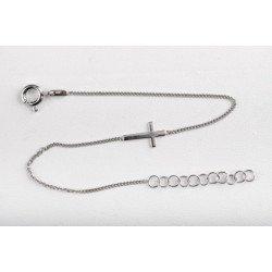 Bracelet Croix - argent