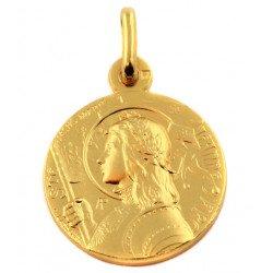 Médaille Sainte Jeanne d'Arc - plaqué or