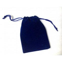 Pochette en velours bleu