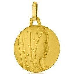 Médaille de la Vierge au voile étoilé - or 18 carats