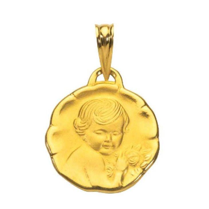 Médaille Ange en Or 19mm