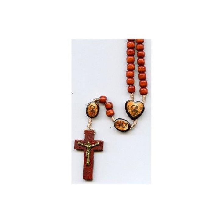 Chapelet Marie qui défait les nœuds - Bois marron