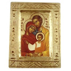 Icône sainte Famille sculptée