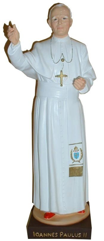 Statue incassable du Pape Jean-Paul II