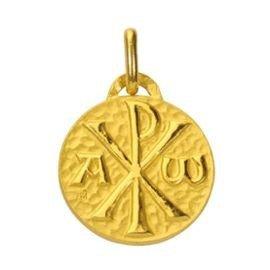 Médaille Chrisme - or 18 carats