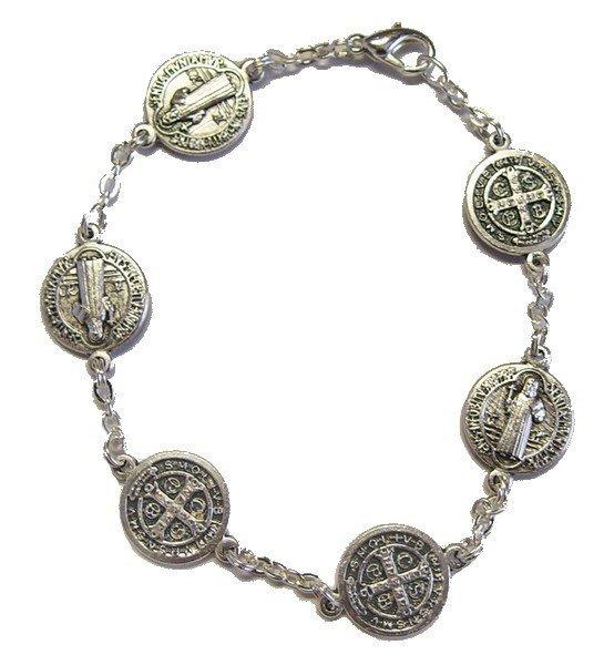 Bracelet Saint Benoit en métal