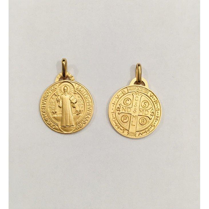 Médaille Saint Benoît - plaqué or