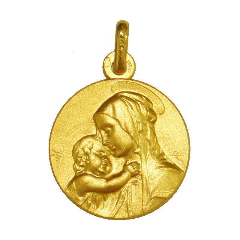 Médaille de la Vierge à l'Enfant - or 18 carats