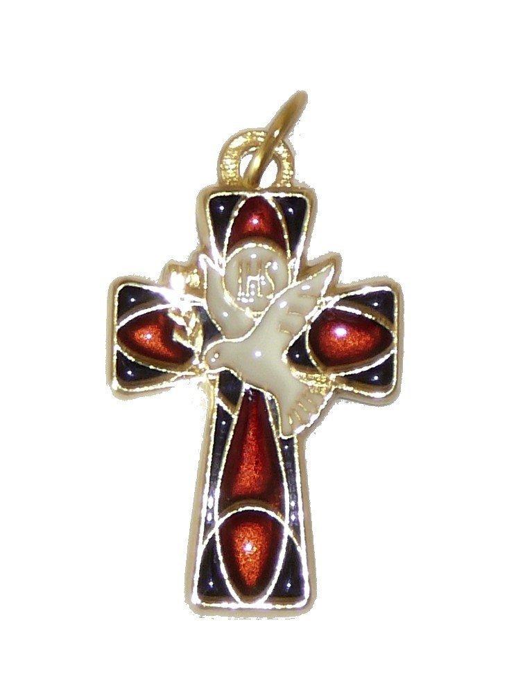 Croix pendentif Esprit Saint - 3 cm