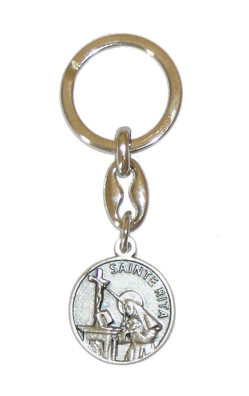Porte-clés Sainte Rita avec prière