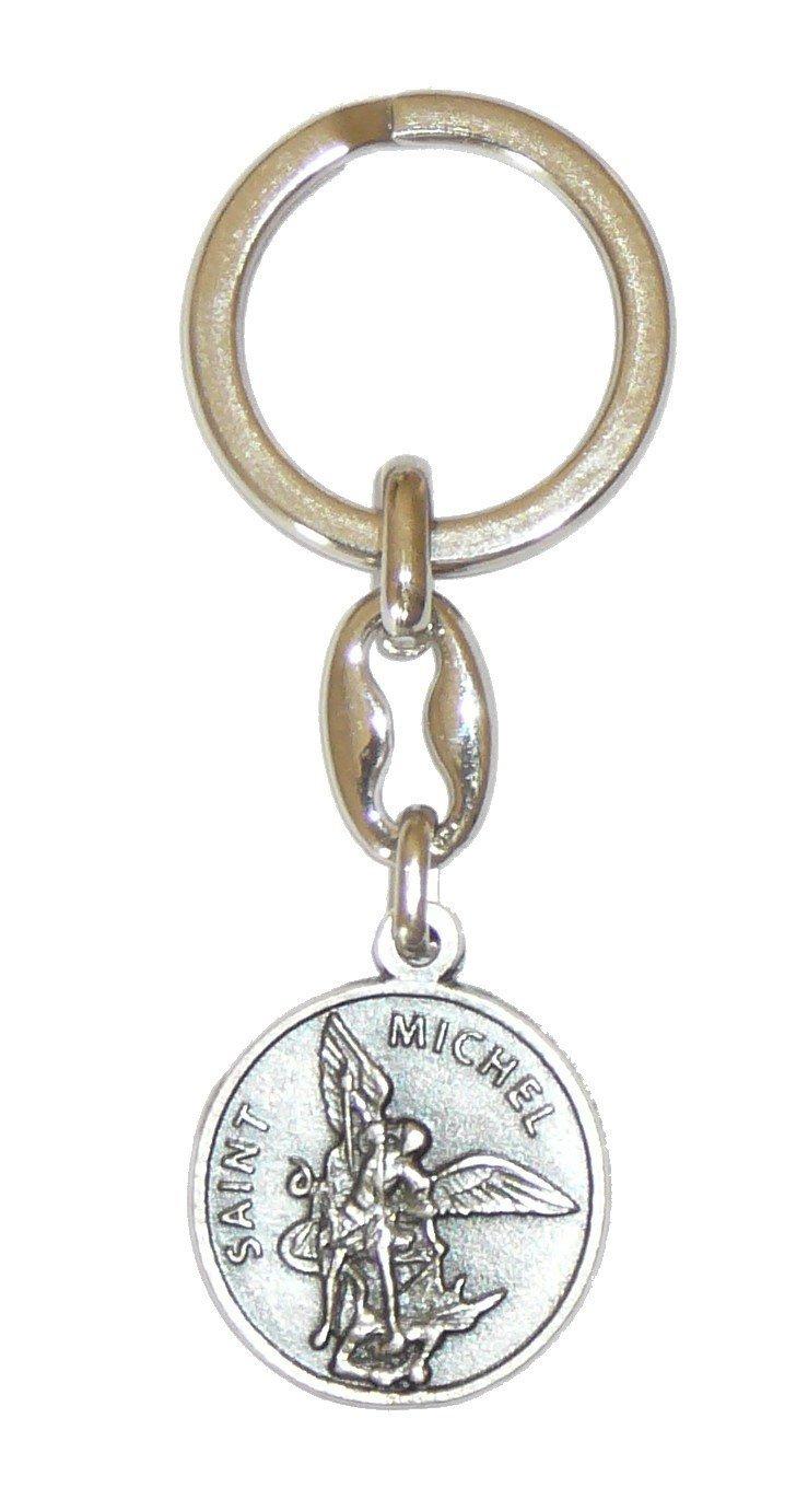 Porte-clés Saint Michel avec prière