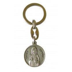 Porte-clés Saint Benoît avec prière