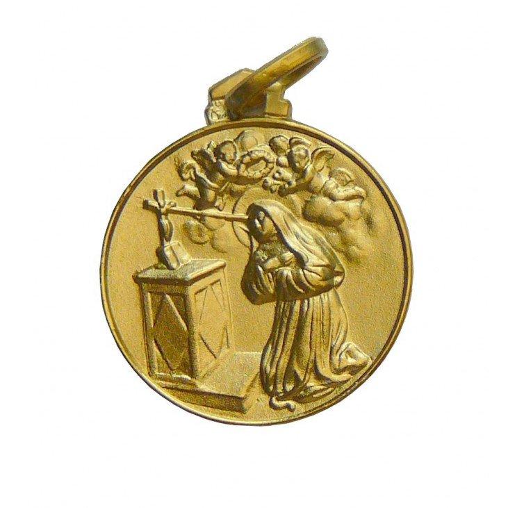 Médaille Sainte Rita - plaqué or