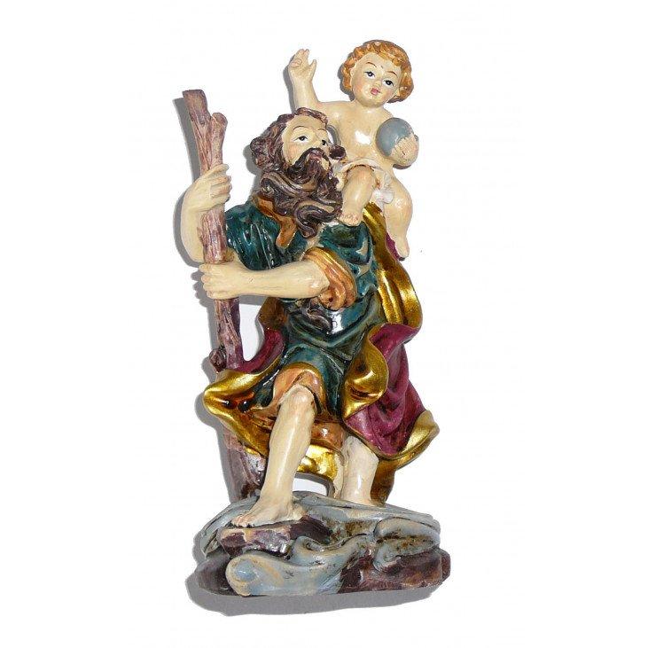 Statue saint Christophe en résine de 13cm