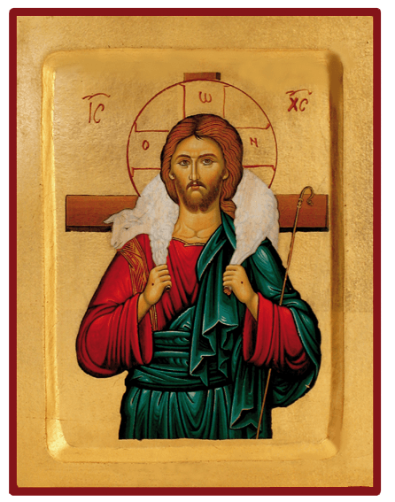 Icône du Christ Bon Pasteur Creuse