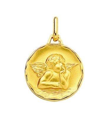 Médaille Ange ornée - plaqué or