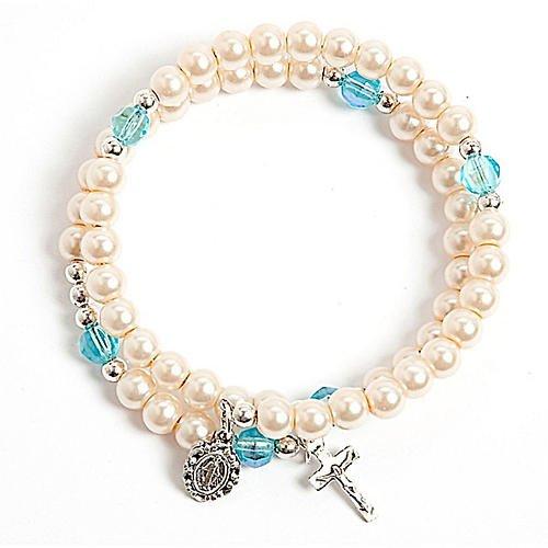 Bracelet chapelet blanc
