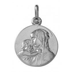 Médaille de la Vierge à l'Enfant de profil - argent