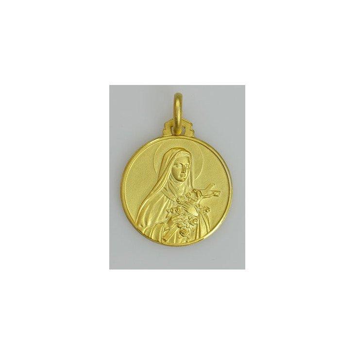 Médaille Sainte Thérèse - plaqué or