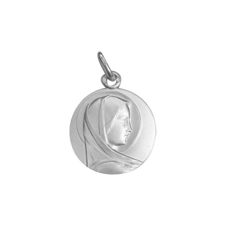 Médaille de la Vierge de profil - argent