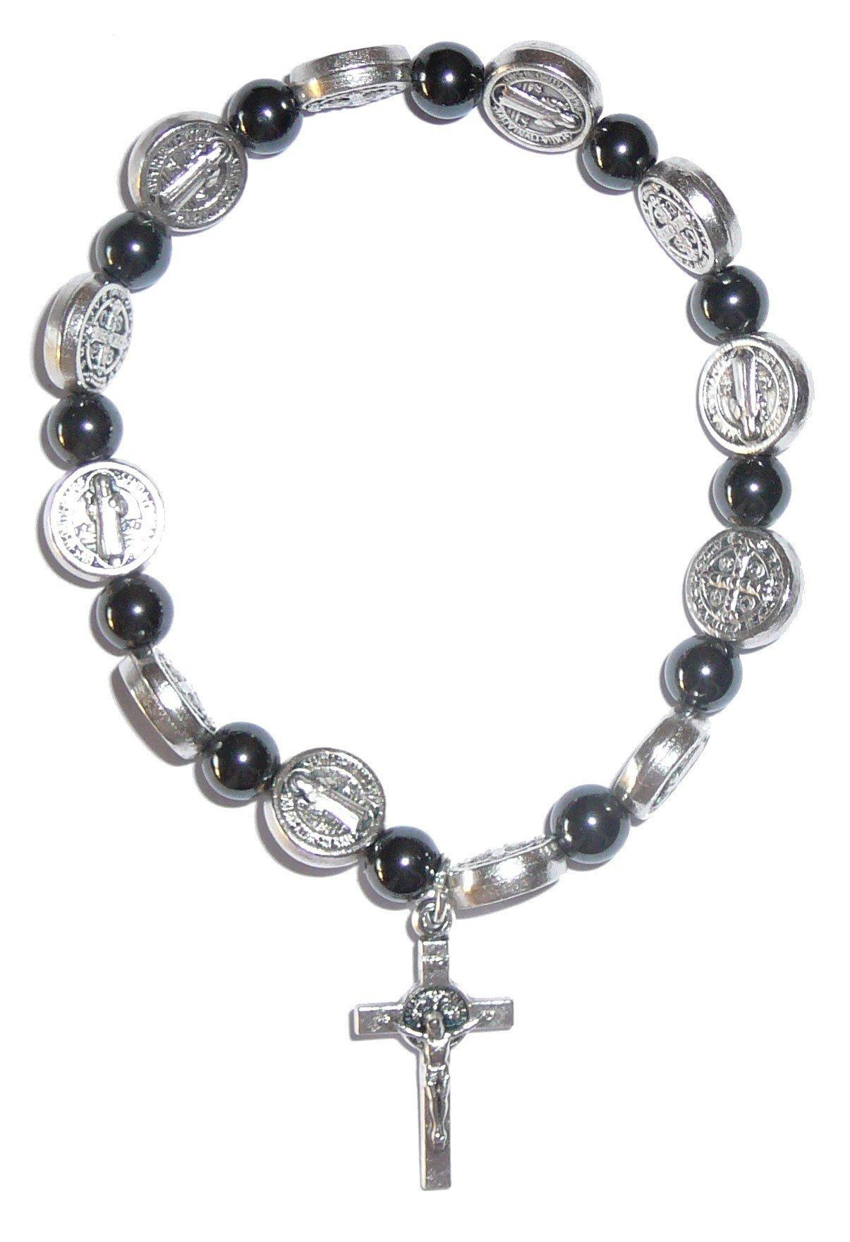 Bracelet Saint Benoit hématites
