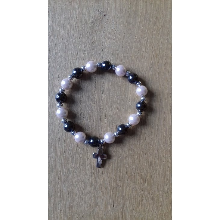 Bracelet hématites - Rose