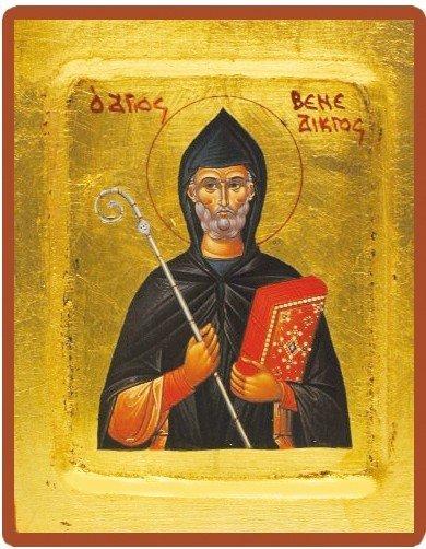 Icône byzantine de saint Benoit