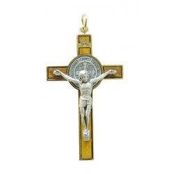 Croix en bois d'olivier de saint Benoit 8 cm