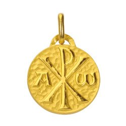 Médaille Chrisme - plaqué or