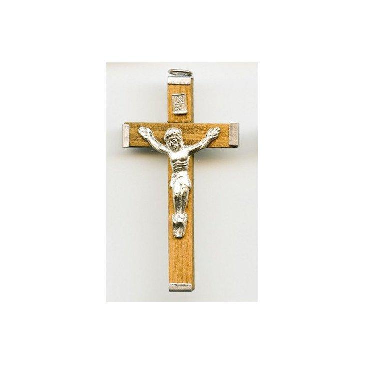 Croix pendentif - Bois clair ou noir