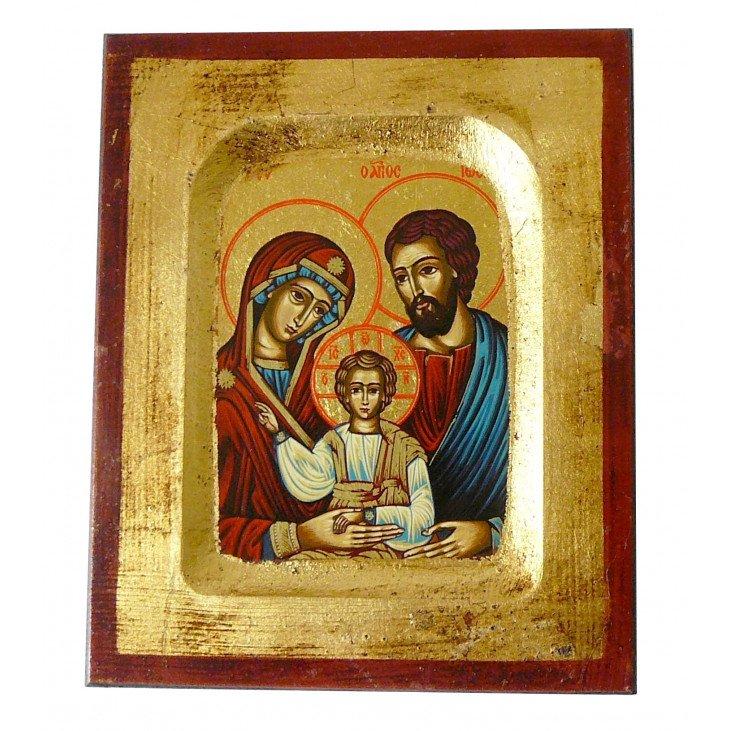 Icône sur bois de la sainte Famille