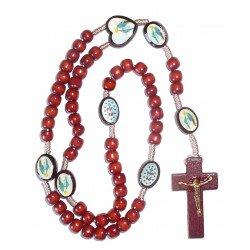 Chapelet en bois Vierge Miraculeuse