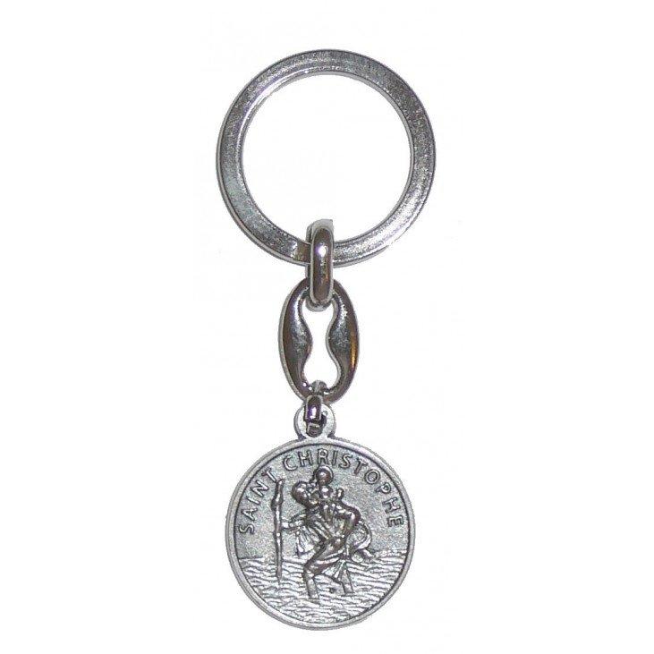 Porte-clés Saint Christophe avec prière
