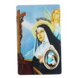 Prière avec médaille en couleur sainte Rita