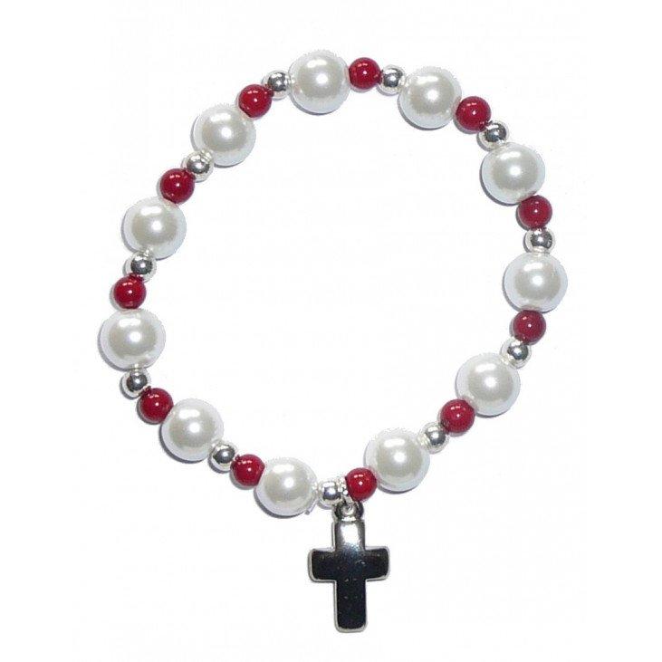 Bracelet perle corail
