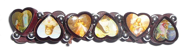 Bracelet forme coeur des saints protecteurs