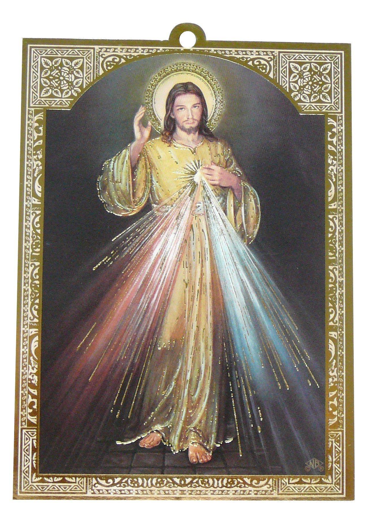 Cadre doré de Jésus Miséricordieux